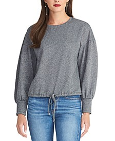 Elizabeth Drawstring-Hem Sweater