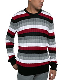 Men's Striped Ribbed Sweater