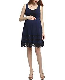 Savana Maternity Lace Accent Skater Dress