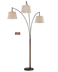 """Luce 84"""" LED 3-Arch Floor Lamp with Dimmer"""