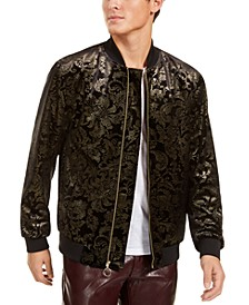INC Men's Big & Tall Luca Novelty Brocade Bomber Jacket, Created For Macy's