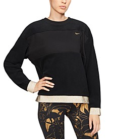 Women's Therma Fleece Metallic-Trim Training Top