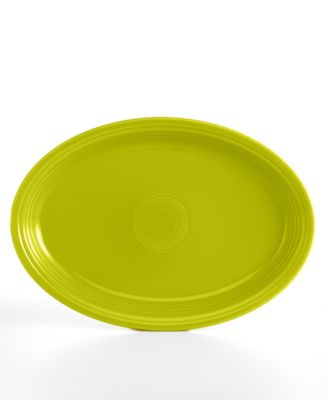 "Lemongrass 19"" Oval Serving Platter"
