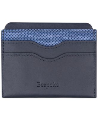 Men's Leather & Mini-Dot Card Case