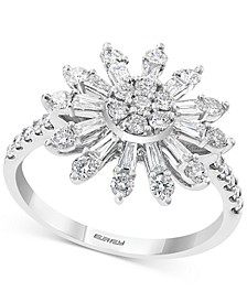 EFFY® Diamond Sunburst Statement Ring (7/8 ct. t.w.) in 14k White Gold