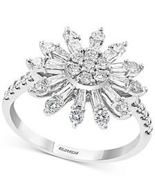 EFFY® Diamond Sunburst Statement Ring (7/8 ct. t.w.) in 14k White Gold