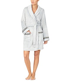 Plush Short Wrap Robe