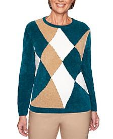 Petite Classics Chenille Colorblocked Sweater