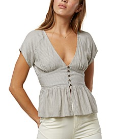 Juniors' Morie Peplum Top