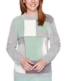 Petite Lake Geneva Colorblocked Chenille Sweater