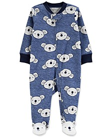 Baby Boys Cotton Koala Footed Coverall