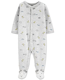 Baby Boys or Girls Animals-Print Cotton Footed Coverall