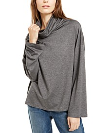 Cowlneck Long-Sleeve Top