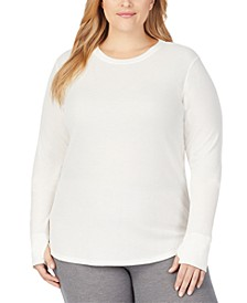 Women's Plus Size Soft Stretch Thermal Top