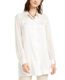 Tunic Button-Up Shirt, Created For Macy's