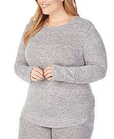Women's Plus Size Soft Knit Long-Sleeve Crewneck Top