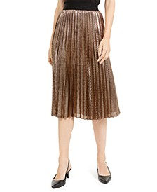 Pleated Metallic Midi Skirt, Created For Macy's