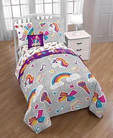 JoJo Rainbow Sparkle 6-Pc. Twin Comforter Set