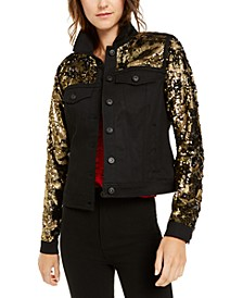 INC Black & Gold Sequin Jacket, Created For Macy's