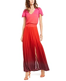 INC Flutter-Sleeve Maxi Dress, Created For Macy's