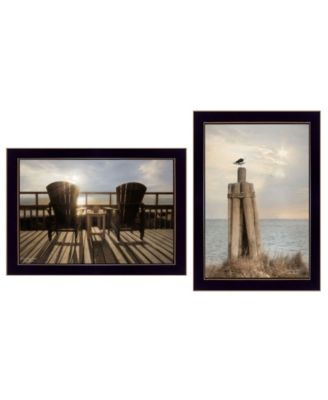 """By The Sea Collection By Lori Deiter, Printed Wall Art, Ready to hang, Black Frame, 20"""" x 14"""""""