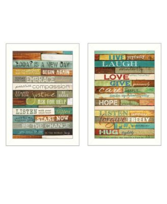 """Today is a New Day Collection By Marla Rae, Printed Wall Art, Ready to hang, White Frame, 10"""" x 14"""""""