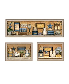 Trendy Decor 4U Bathroom Printed Wall Art, Ready to hang Collection