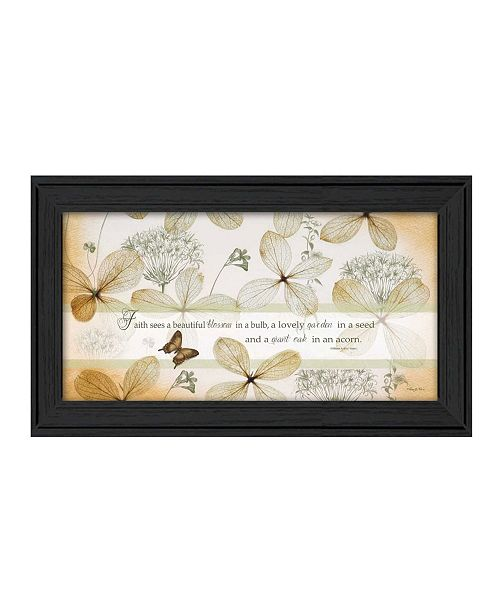 "Trendy Decor 4U Trendy Decor 4U Faith Sees By Robin-Lee Vieira, Printed Wall Art, Ready to hang, Black Frame, 21"" x 12"""