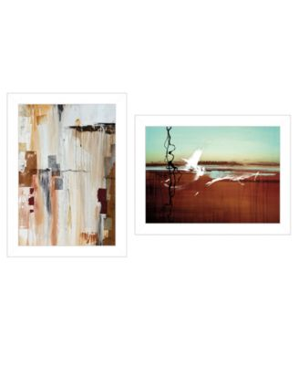 """Abstract Flight 2-Piece Vignette by Cloverfield Co, White Frame, 19"""" x 15"""""""