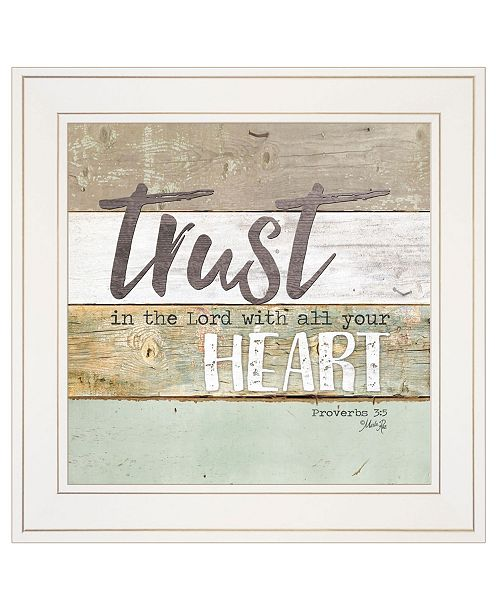 """Trendy Decor 4U Trendy Decor 4U Trust in the Lord by Marla Rae, Ready to hang Framed print, White Frame, 15"""" x 15"""""""