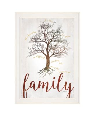 Family Tree by Marla Rae, Ready to hang Framed print, White Frame, 15