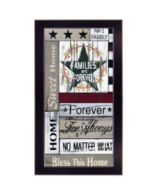 """Families are Forever by Linda Spivey, Ready to hang Framed Print, Black Frame, 11"""" x 20"""""""