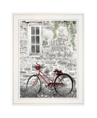 """Life is a Journey by Lori Deiter, Ready to hang Framed Print, White Frame, 15"""" x 19"""""""