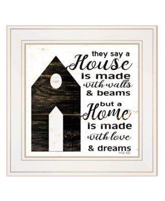 """A Housee by Cindy Jacobs, Ready to hang Framed Print, White Frame, 15"""" x 15"""""""