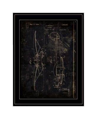 """Airplane Patent II by Cloverfield Co, Ready to hang Framed Print, Black Frame, 15"""" x 19"""""""