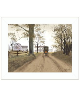 """Headin Home by Billy Jacobs, Ready to hang Framed Print, White Frame, 19"""" x 15"""""""