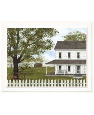 """Green, Green Grass of Home by Billy Jacobs, Ready to hang Framed Print, White Frame, 27"""" x 21"""""""