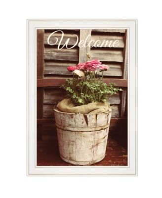 """Welcome Roses by Anthony Smith, Ready to hang Framed Print, White Frame, 15"""" x 21"""""""