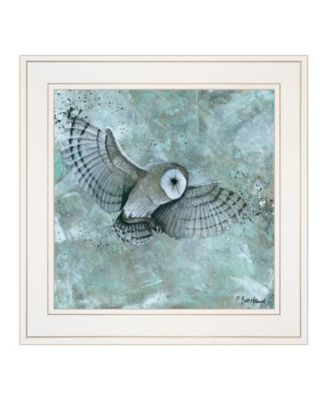 """Simplicity Owl by Britt Hallowell, Ready to hang Framed Print, White Frame, 15"""" x 15"""""""