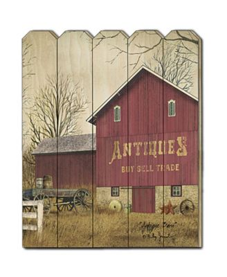 Antique Barn By Billy Jacobs, Printed Wall Art, Ready to hang, Black Frame, 14