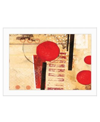 """Circular Abstract by Cloverfield Co, Ready to hang Framed Print, White Frame, 19"""" x 15"""""""