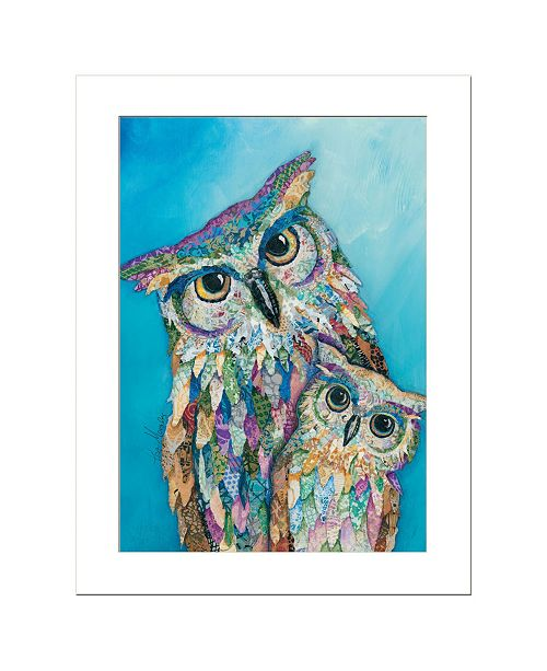 "Trendy Decor 4U Trendy Decor 4U Wise Guys - Owls by lisa Morales, Ready to hang Framed Print, White Frame, 15"" x 19"""