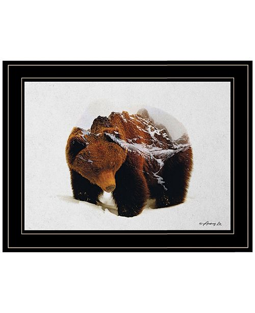 "Trendy Decor 4U Trendy Decor 4U Bear in the Mountains by andreas Lie, Ready to hang Framed Print, Black Frame, 19"" x 15"""