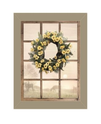 Country Gazing by Lori Deiter, Ready to hang Framed Print, White Window-Style Frame, 19