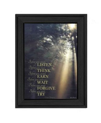 """Before You By Lori Deiter, Printed Wall Art, Ready to hang, Black Frame, 11"""" x 15"""""""