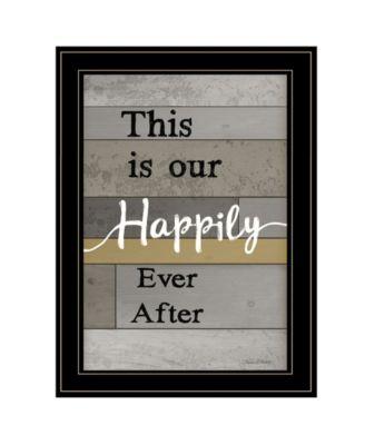 Happily Ever After by Karen Tribett, Ready to hang Framed Print, Black Frame, 15