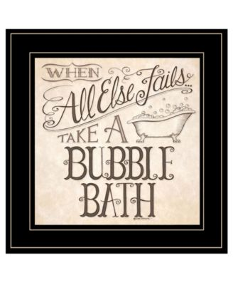 """When All Else Fails by Deb Strain, Ready to hang Framed Print, Black Frame, 15"""" x 15"""""""