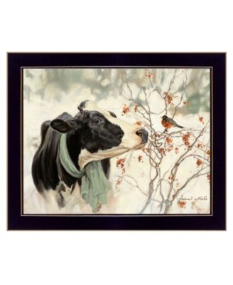 """The Winter Robin by Bonnie Mohr, Ready to hang Framed Print, Black Frame, 18"""" x 14"""""""