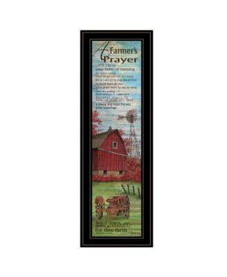 "Farmers Prayer by Cindy Jacobs, Ready to hang Framed Print, Black Frame, 11"" x 33"""