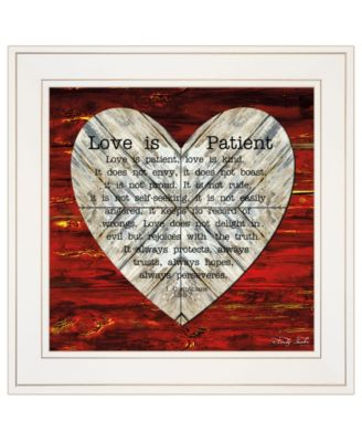 """Love is Patient by Cindy Jacobs, Ready to hang Framed Print, White Frame, 15"""" x 15"""""""